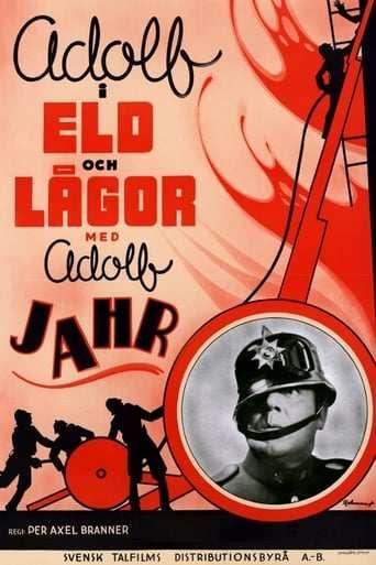 Bild från filmen Adolf i eld och lågor
