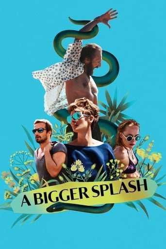 Från filmen A bigger splash som sänds på TV12