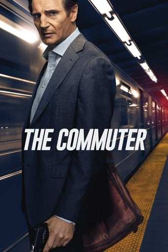 Från filmen The Commuter som sänds på C More Stars