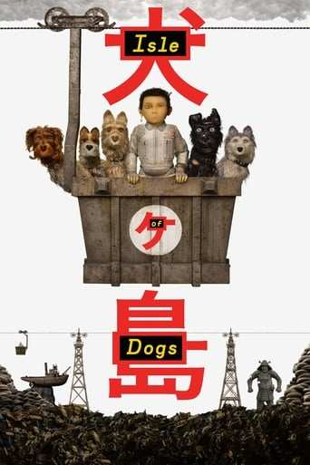 Från filmen Isle of dogs som sänds på Viasat Film