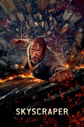 Från filmen Skyscraper som sänds på C More Stars