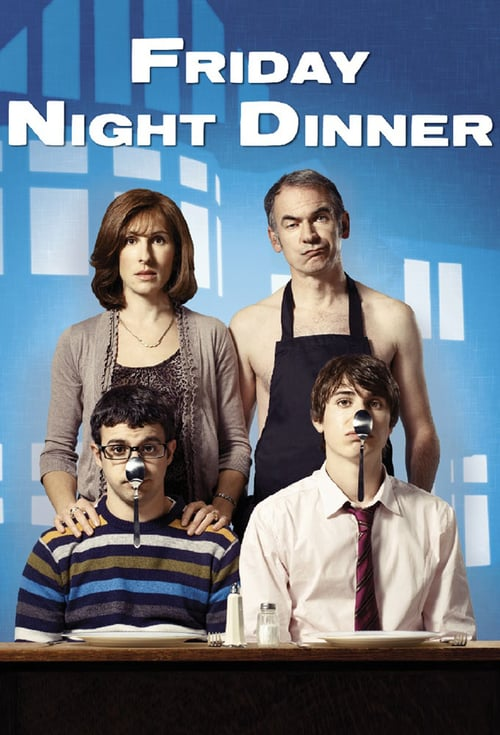 Från TV-serien Friday night dinner som sänds på SVT1