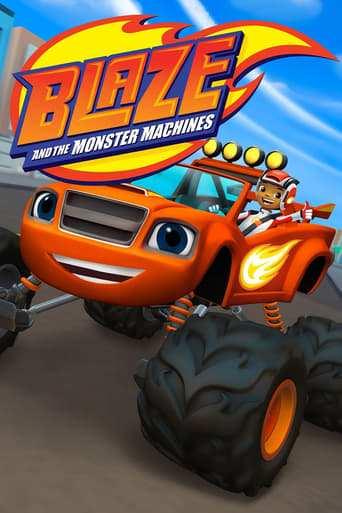 Från TV-serien Blaze och Monstermaskinerna som sänds på Nickelodeon