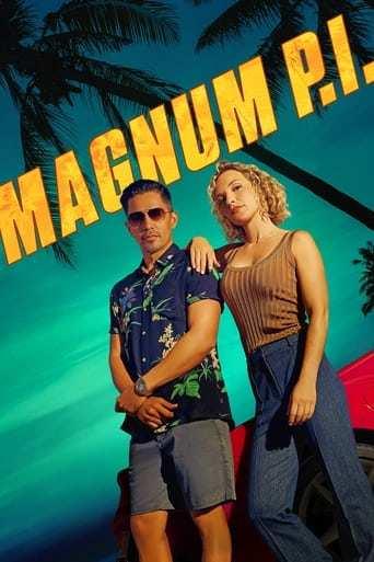 Från TV-serien Magnum P.I som sänds på TV6